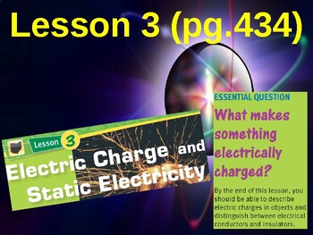 Science Fusion Unit 7, Lesson 3 Electric Charge & Static Electricity notes