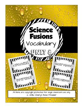 Science Fusion Unit 8 Vocabulary - 4th Grade