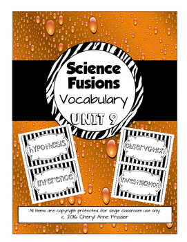 Science Fusion Unit 9 Vocabulary - 4th Grade