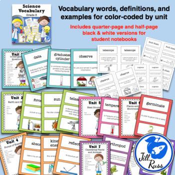 Science Fusion Vocabulary 3rd Grade