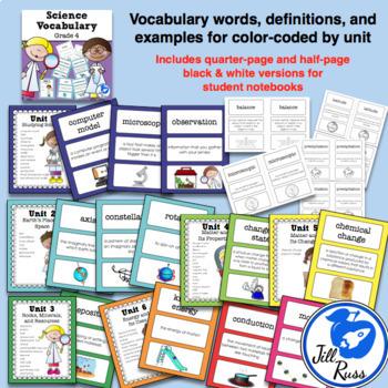 Science Fusion Vocabulary 4th Grade