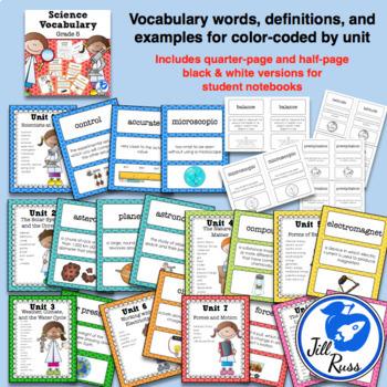 Science Fusion Vocabulary 5th Grade