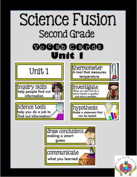 Science Fusion Vocabulary Cards Second Grade Unit 1