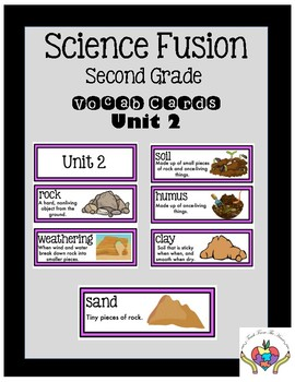 Science Fusion Vocabulary Cards Second Grade Unit 2
