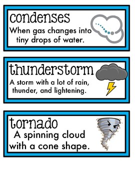 Science Fusion Vocabulary Cards Second Grade Unit 3