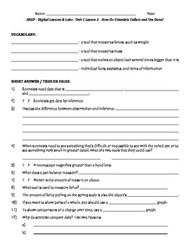 Science fusion worksheets for unit 1 digital lesson grade 4 by science fusion worksheets for unit 1 digital lesson grade 4 ibookread PDF