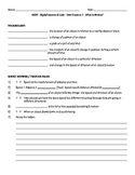 Science Fusion - worksheets for unit 8 digital lesson grade 4