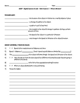 Science Fusion - worksheets for unit 8 digital... by Lara Haley ...
