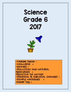 Science GLAT Grade 6 2017 with answers