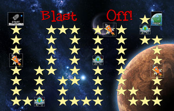 Science Game: space, solar system, earth, moon, sun, planets, stars
