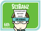 Science Games: 6th Grade Life Science Vocabulary Review {SciBanz}