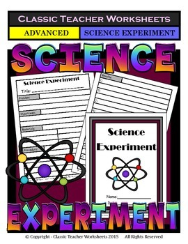 Generic Science Experiment Template-Grades 4-12/4th Grade to 12th Grade-Advanced
