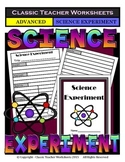 Generic Science Experiment Template - Grades 4-12 (4th-12th Grade) - Advanced