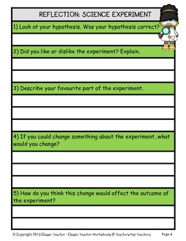 Generic Science Experiment Template-Gr. 2/2nd Gr. Grade 3/3rd Grade-Intermediate