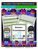 Generic Science Experiment Template-Gr. 2/2nd Gr. Grade 3/3rd Grade-Intermediate