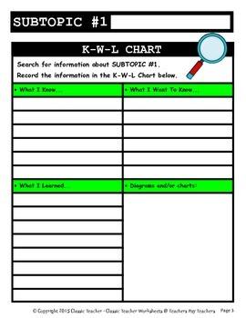 Generic Science Report Template-Grades 4-6/4th Grade to 6th Grade-Advanced