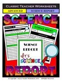 Generic Science Report Template - Grades 4-6 (4th - 6th Grade) - Advanced