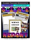 Generic Science Report Template-Grade 1/1st Grade Grade 2/2nd Grade-Beginner