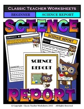 Generic Science Report Template-Grade 1/1st Grade Grade 2/