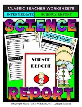 Generic Science Report Template-Gr. 2/2nd Grade Grade 3/3rd Grade-Intermediate