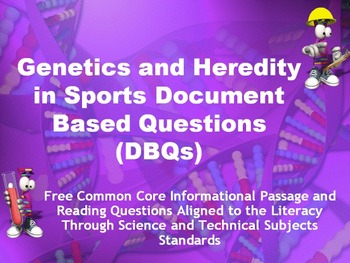 Science Genetics and Heredity in Sports Article - FREE DOWNLOAD!!