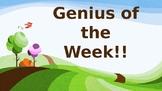 Science Genius of the Week