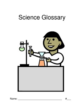 Science Glossary with alphabet tabs
