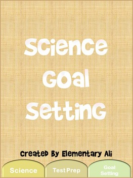 Science Goal Setting Sheets
