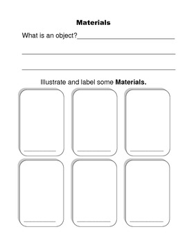 Science Gr 1 - Materials, objects and everyday structures booklet