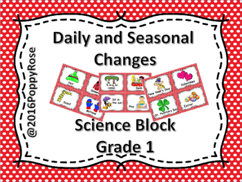 Science Grade 1 Daily and Seasonal Changes