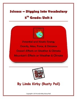 Science Grade 5 Digging into Vocabulary, Unit 3