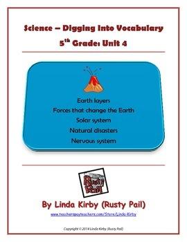 Science Grade 5 Digging into Vocabulary, Unit 4