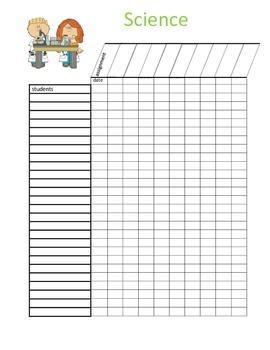 Science Grade Sheet