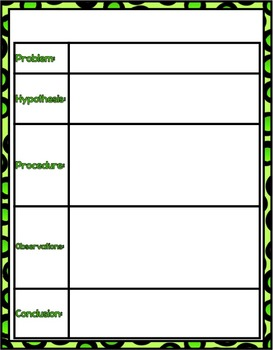 Science Graphic Organizer Poseters