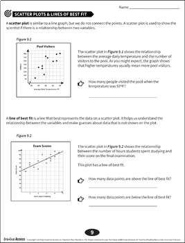 Science Graphing Basics Packet: Line Graph, Bar Graph, Pie Chart, Scatter Plot
