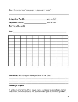 Science Graphing Guided Notes and Practice