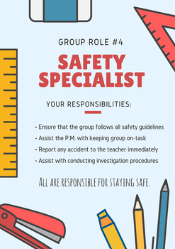 Science Group Role and Tasks - Safety Specialist