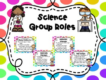 Science Group Roles