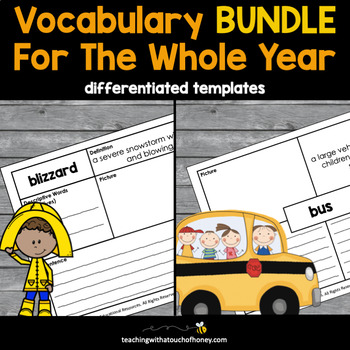 Vocabulary Bundle: Tiered Booklets For the Entire Year!