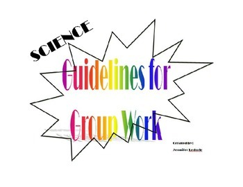 Science Guidelines for Group Work Printables