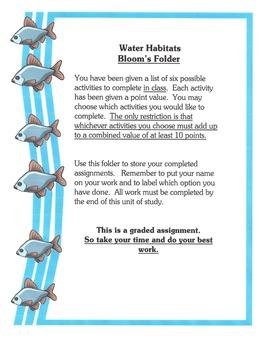 Science Habitats - FIVE Differentiated Instruction Activities