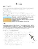 Science: Habitats and Communities - Biome/Habitat Project
