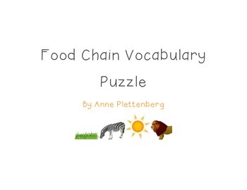 Science: Habitats and Communities - Food Chain Vocabulary Puzzle