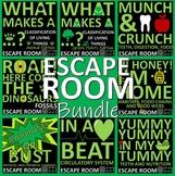 Science/Halloween/Christmas Escape Rooms Bundle-6 Rooms, 12 hours, Print and Go