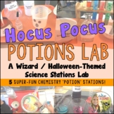 Science Wizard Potions Chemistry Stations Lab Halloween Fun!