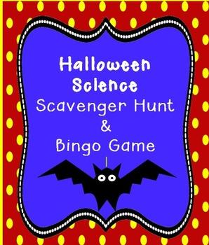 Halloween Science Scavenger Hunt & Bingo Game