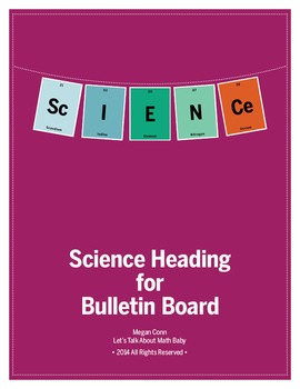 Science Heading in Periodic Table Elements