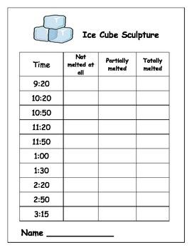 Science Heat Ice Cube Sculptures