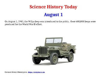 Science History Today: August & September