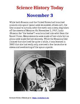 Science History Today: November